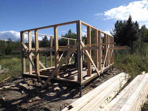 Строительство дома бани